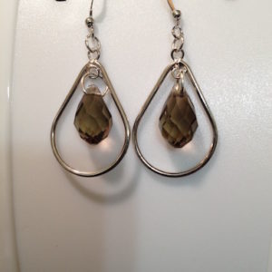 Brown Teardrop Earrings