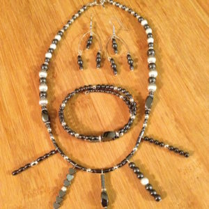 Hematite Necklace Set